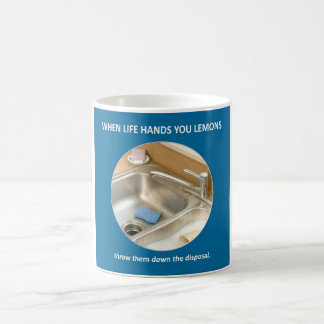 throw-them-down-the-disposal classic white coffee mug