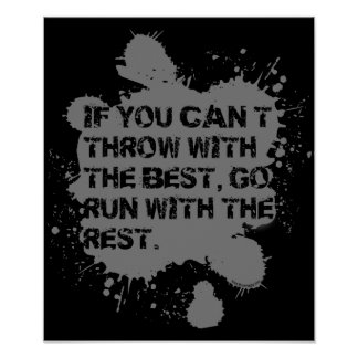 Throw With The Best- Shot Put Discus Thrower Gift Poster