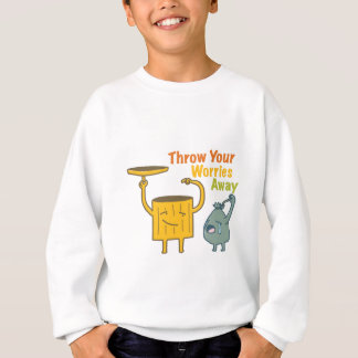 Throw Your Worries Away Kids' Hanes Sweatshirt