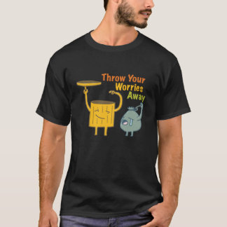Throw Your Worries Away Men's Black T-shirt