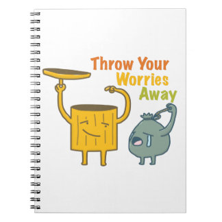Throw Your Worries Photo Notebook (80 Pages B&W)