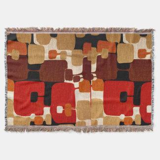 Throwback 1960s Mod Print Throw Blanket