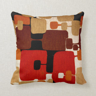 Throwback 1960s Mod Print Throw Pillow
