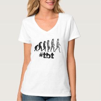 Throwback Thursday TBT Evolution hashtag shirt