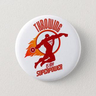 throwing discus is my superpower 2 inch round button