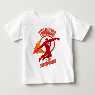 throwing discus is my superpower baby T-Shirt
