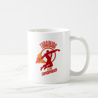 throwing discus is my superpower coffee mug