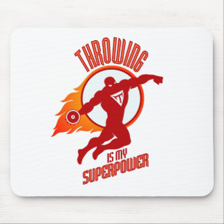 throwing discus is my superpower mouse pad