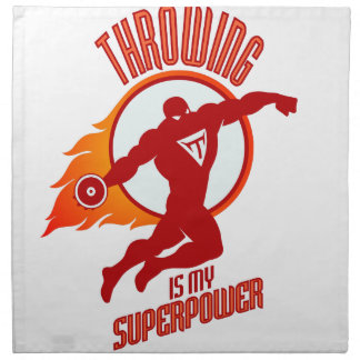 throwing discus is my superpower napkin