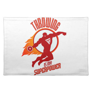 throwing discus is my superpower placemat