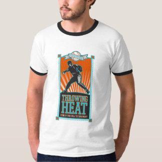 Throwing Heat Baseball T-shirts