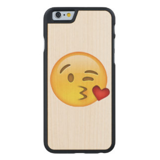 Throwing Kiss - Emoji Carved Maple iPhone 6 Case