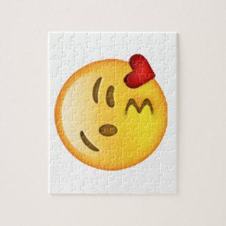 Throwing Kiss - Emoji Jigsaw Puzzle