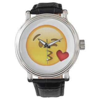 Throwing Kiss - Emoji Watch
