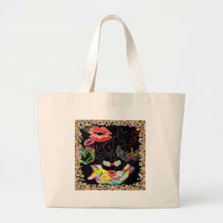 Throwing Kisses and I LOVE Yous Large Tote Bag