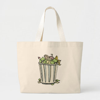 Throwing Money Away Cartoon Jumbo Tote Bag