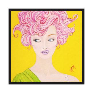 Throwing Shade Fine Art Print on Canvas 24x24