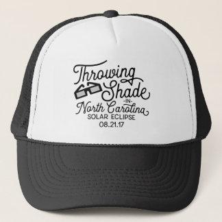 Throwing Shade in North Carolina Solar Eclipse Trucker Hat