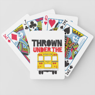 Thrown Under The Bus Bicycle Playing Cards