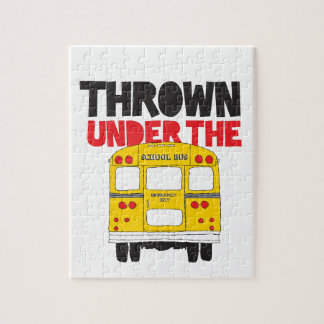 Thrown Under The Bus Jigsaw Puzzle