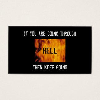 thru hell church bc business card