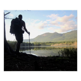 Thru-Hiker in Maine, Appalachian Trail Poster