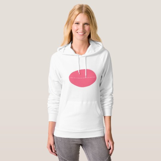 Thruple Hoodie - Women's American Apparel, Wt/Pink