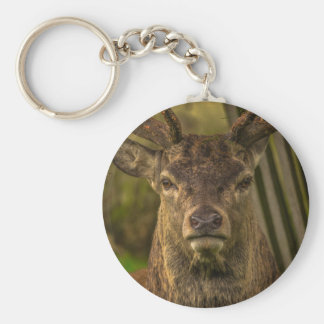 Thug deer basic round button keychain