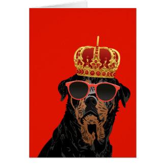 Thug Life King Rottweiler for Rottweiler Parents Card