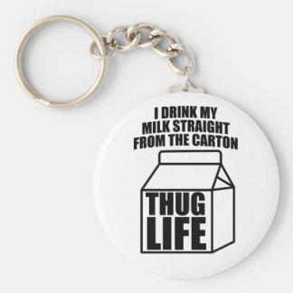 Thug Life Milk Carton Keychain