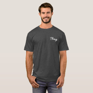 Thug Signature t-shirt charcoal with white font