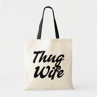 Thug Wife funny tote bag