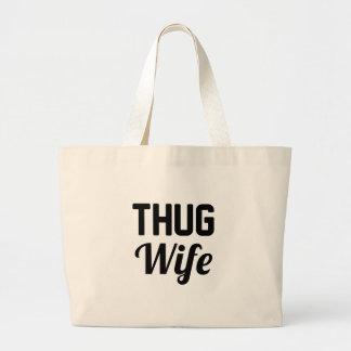 Thug Wife Large Tote Bag