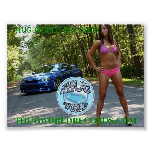 thug world records girl in woods poster