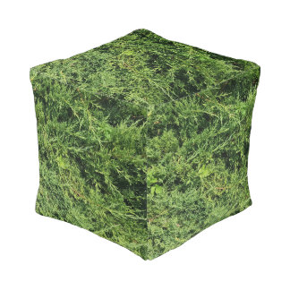Thuja tree photo background pouf