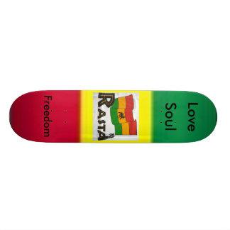 thumb-122721, RastaFlagWhtZm, Freedom, Love, Soul Skate Deck