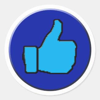 thumb Stucker Classic Round Sticker