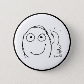 Thumb up Comic Meme. 2 Inch Round Button