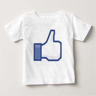 Thumb up facebook LIKE Kids tshirt