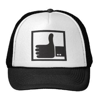 Thumb up like sign trucker hat