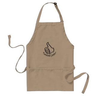 Thumb up standard apron