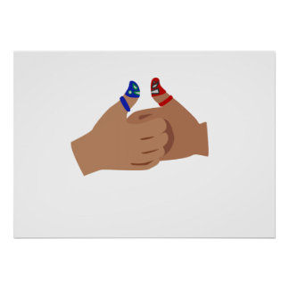 Thumb War Luchadores Poster