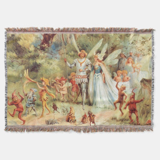 Thumbelina's Wedding in the Forest Throw Blanket