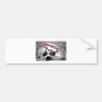Thumbellina. is my name I'm a beautiful maltese Bumper Sticker