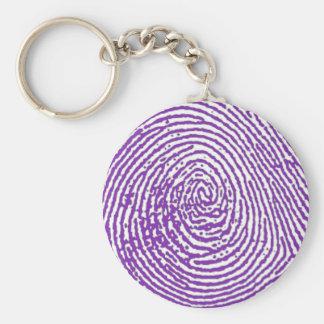 thumbprint FINGERPRINT Basic Round Button Keychain
