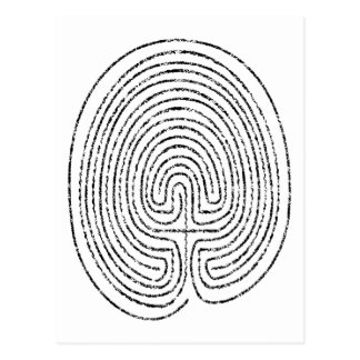 Thumbprint Labyrinth Postcard