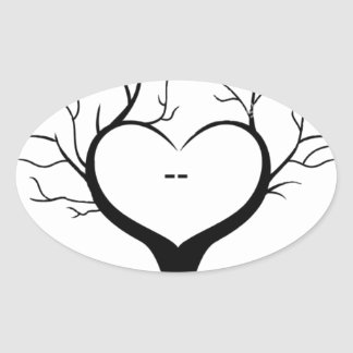Thumbprint Tree Oval Sticker