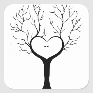Thumbprint Tree Square Sticker
