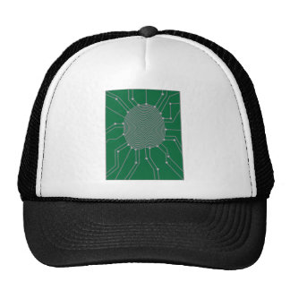 Thumbprint with Circuit Board Illustration Trucker Hat