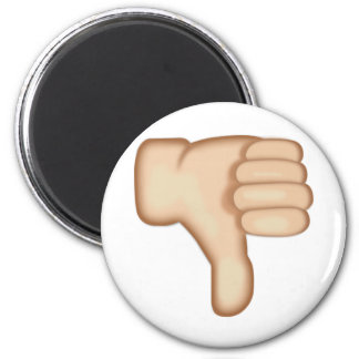 Thumbs Down Sign Emoji 2 Inch Round Magnet